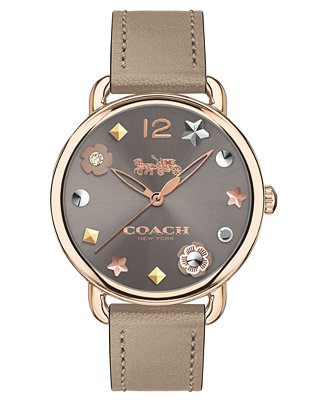 Women's Delancey Gray Leather Strap Watch 36mm by General