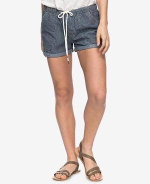 Roxy Juniors Striped Chambray Soft Shorts