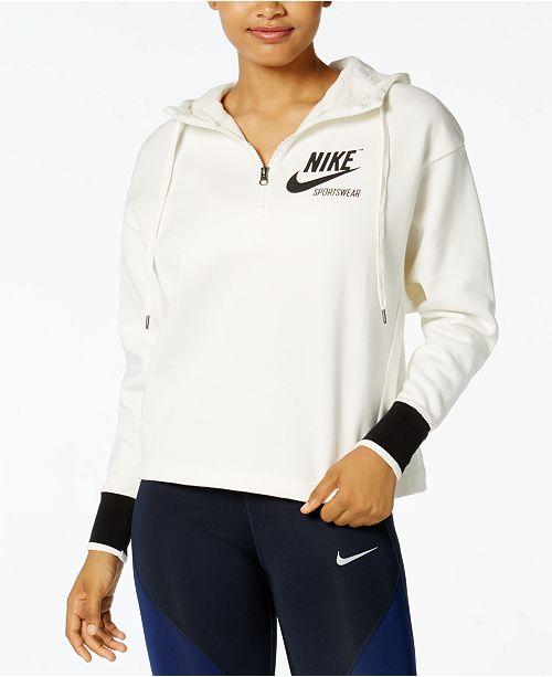 0c924b5e31f1 Nike Sportswear Archive Half-Zip Hoodie   Reviews - Tops - Women ...