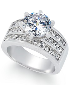 Silver-Tone Crystal Triple-Row Ring, Created for Macy's