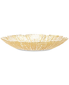 Vietri Rufolo Glass Gold Collection Salad Plate