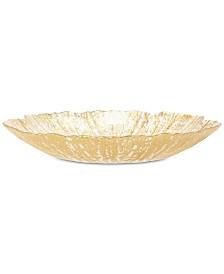 Vietri Rufolo Glass Gold Collection Salad Plate