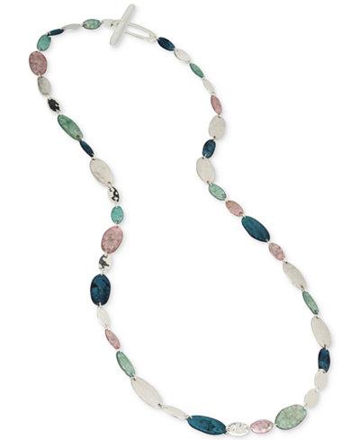 Robert Lee Morris Soho Silver-Tone Multi-Stone Long Necklace