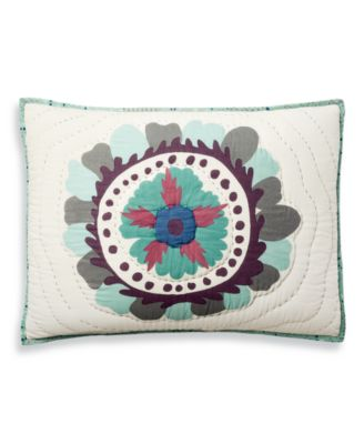Mystical Suzani Quilted Standard Sham, Created for Macy's