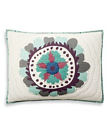 CLOSEOUT! Martha Stewart Collection Mystical Suzani Quilted Standard Sham, Created for Macy's