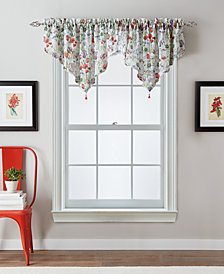 "CHF Botanical Garden 51"" x 25"" Crushed Voile Ascot Window Valance"