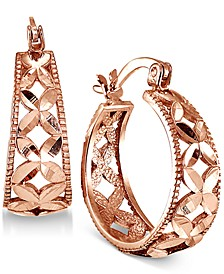 """Small Floral Hoop Earrings, 0.75"""", Created for Macy's"""