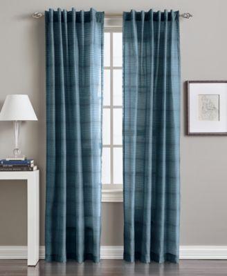 "Preston Horizontal Stripe 50"" x 84"" Tab Top Window Panel"