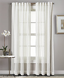 "Curtainworks Diamond Sheer 50"" x 95"" Tab Top Window Panel"