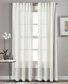 "Curtainworks Diamond Sheer 50"" x 95"" Tab Top Window Panel"