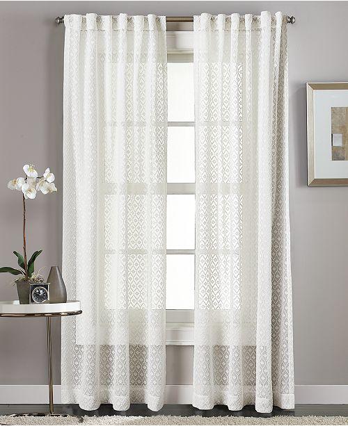 "Curtainworks Diamond Sheer 50"" x 84"" Tab Top Window Panel"