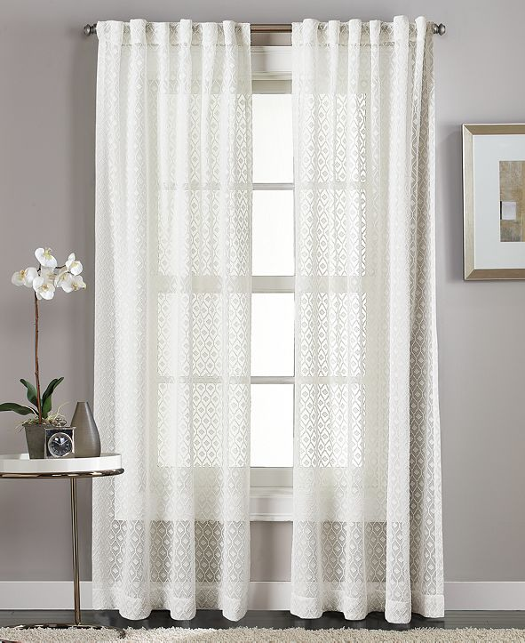 Curtainworks Diamond Sheer Backtab Window Panel Collection