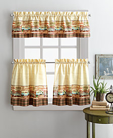 "Curtainworks Fishing Lodge 36"" Tier & Valance Set"