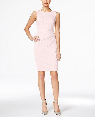 Calvin Klein Starburst Sheath Dress Amp Reviews Dresses
