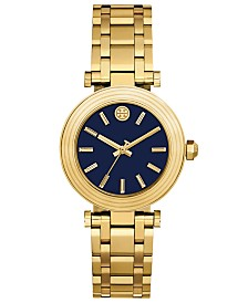 3d608d54c8ad1 Tory Burch Women s Classic T Gold-Tone Stainless Steel Bracelet Watch 36mm