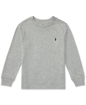 Image of Ralph Lauren Long-Sleeve Cotton T-Shirt, Toddler & Little Boys (2T-7)