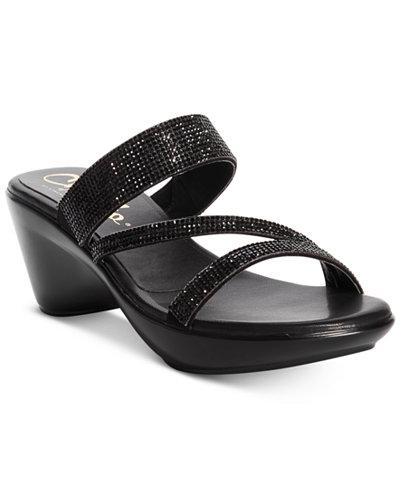 Callisto Raya Embellished Wedge Sandals