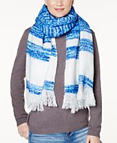 I.N.C. Striped Brushed Blanket Wrap & Scarf in One, Created for Macy's