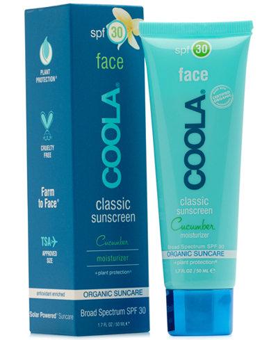 Coola Face Classic Sunscreen Cucumber Moisturizer SPF 30