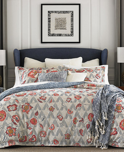 CLOSEOUT! Tommy Hilfiger Margo Reversible 3-Pc. Floral Full/Queen Comforter Set