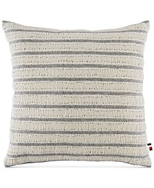 "Tommy Hilfiger Fisherman's Stripe 18"" Square Decorative Pillow"
