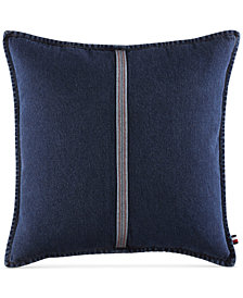 "Tommy Hilfiger Selvage Stripe 22"" Square Decorative Pillow"