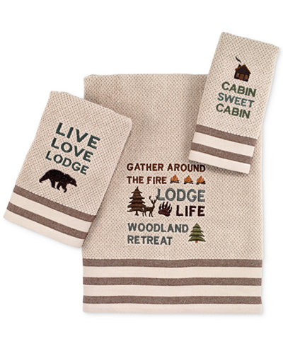 Avanti Cabin Words Bath Towel Collecton