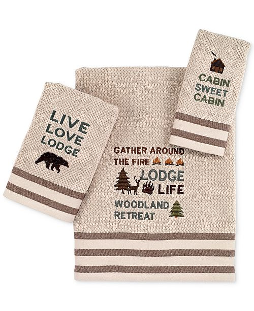 "Avanti Cabin Words 11"" x 18"" Fingertip Towel"