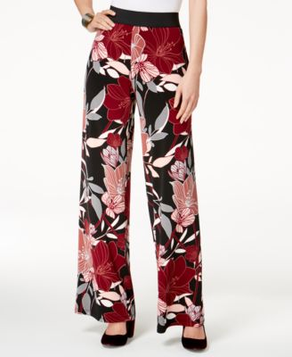 Image of Alfani Printed Palazzo Pants, Created for Macy's