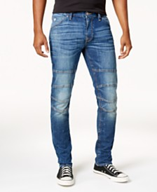 e838ad678c809 GUESS Men s Slim-Fit Tapered Stretch Destroyed Moto Jeans