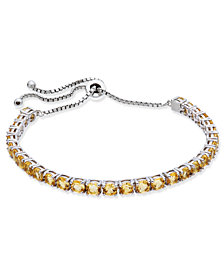 Citrine Slider Bracelet (5-1/2 ct. t.w.) in Sterling Silver