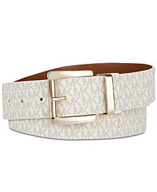 MICHAEL Michael Kors Reversible Signature Leather Belt