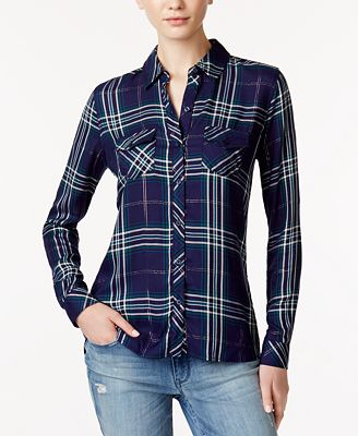 Maison Jules Plaid Shirt, Created for Macy's