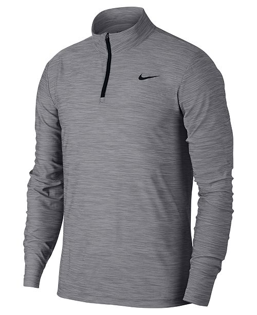 52bee177fab8 Nike Men s Breathe Quarter-Zip Training Top   Reviews - Activewear ...