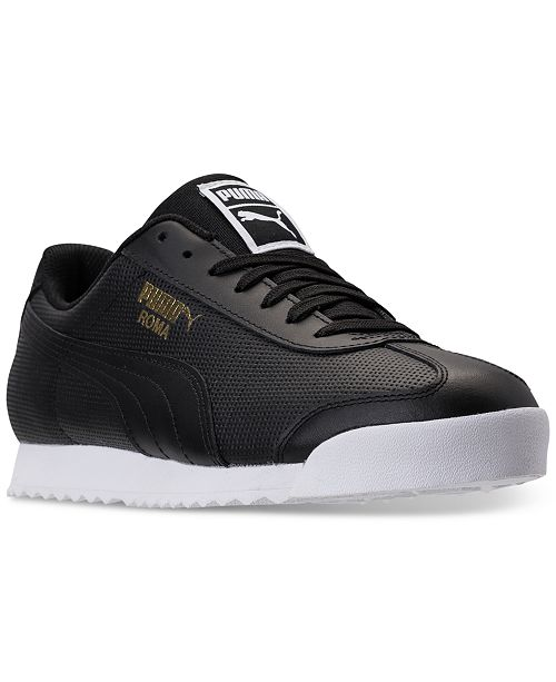 ec9cabb4953 Puma Men s Roma Classic Perf Casual Sneakers from Finish Line ...