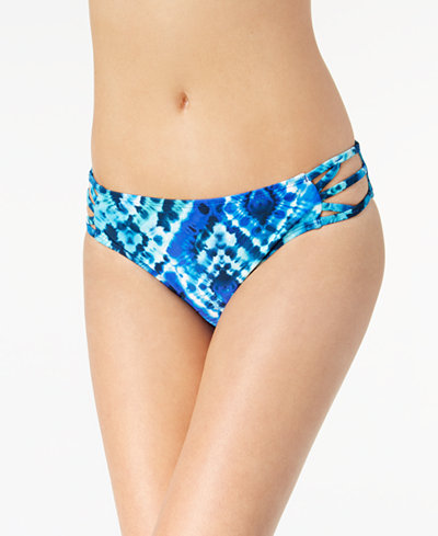 California Waves Juniors' Into the Deep Strappy Hipster Bikini Bottoms, Created for Macy's