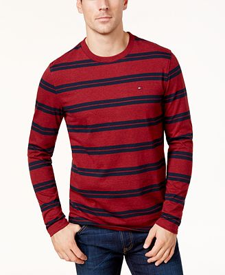 Tommy Hilfiger Men's Striped Long-Sleeve T-Shirt, Created for Macy's