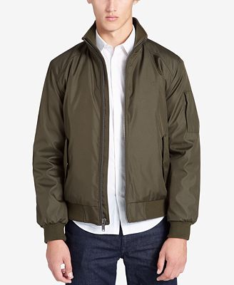 Calvin Klein Men's Weather-Resistant Classic Bomber Jacket - Coats ...