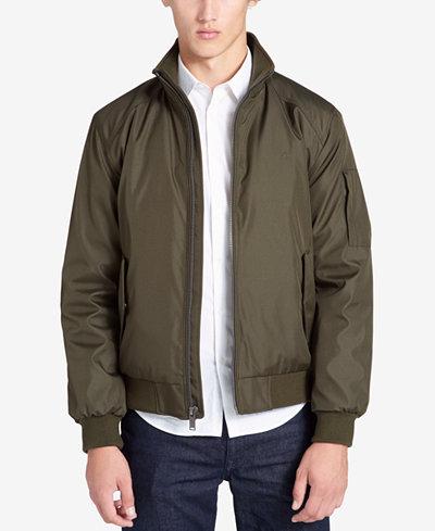 Calvin Klein Men's Weather-Resistant Classic Bomber Jacket - Coats ...