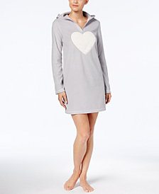Jenni by Jennifer Moore Hooded Fleece Sleepshirt, Created for Macy's