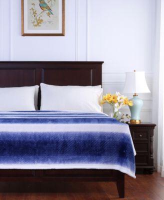 Ombré Stripe Textured Honeycomb Twin Blanket