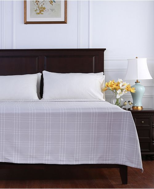 Berkshire Comfy Cotton Check Full/Queen Blanket
