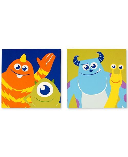 Disney Monsters, Inc. Monster at Play 2-Pc. Canvas Wall Art Set ...