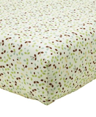 Winnie-The-Pooh My Friend Pooh  100% Cotton Floral-Print Fitted Crib Sheet