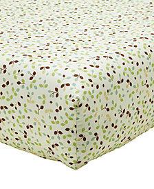 Disney Winnie-The-Pooh My Friend Pooh  100% Cotton Floral-Print Fitted Crib Sheet