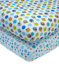 Disney Finding Nemo  2-Pc. Fitted Crib Sheet Set