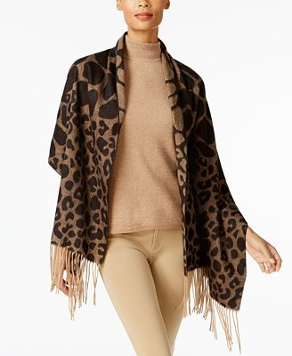 Charter Club Mixed Animal-Print Wrap & Scarf in One, Created for Macy's