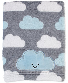 Little Love by NoJo Happy Little Clouds Graphic-Print Embroidered Appliqué Plush Blanket