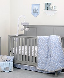 Geo Diamond 8-Piece Crib Bedding Set