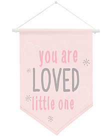 NoJo The Dreamer Collection You Are Loved Little One Graphic-Print Wall Banner